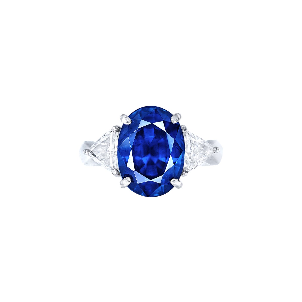 7.67 克拉 天然藍寶石鑽戒