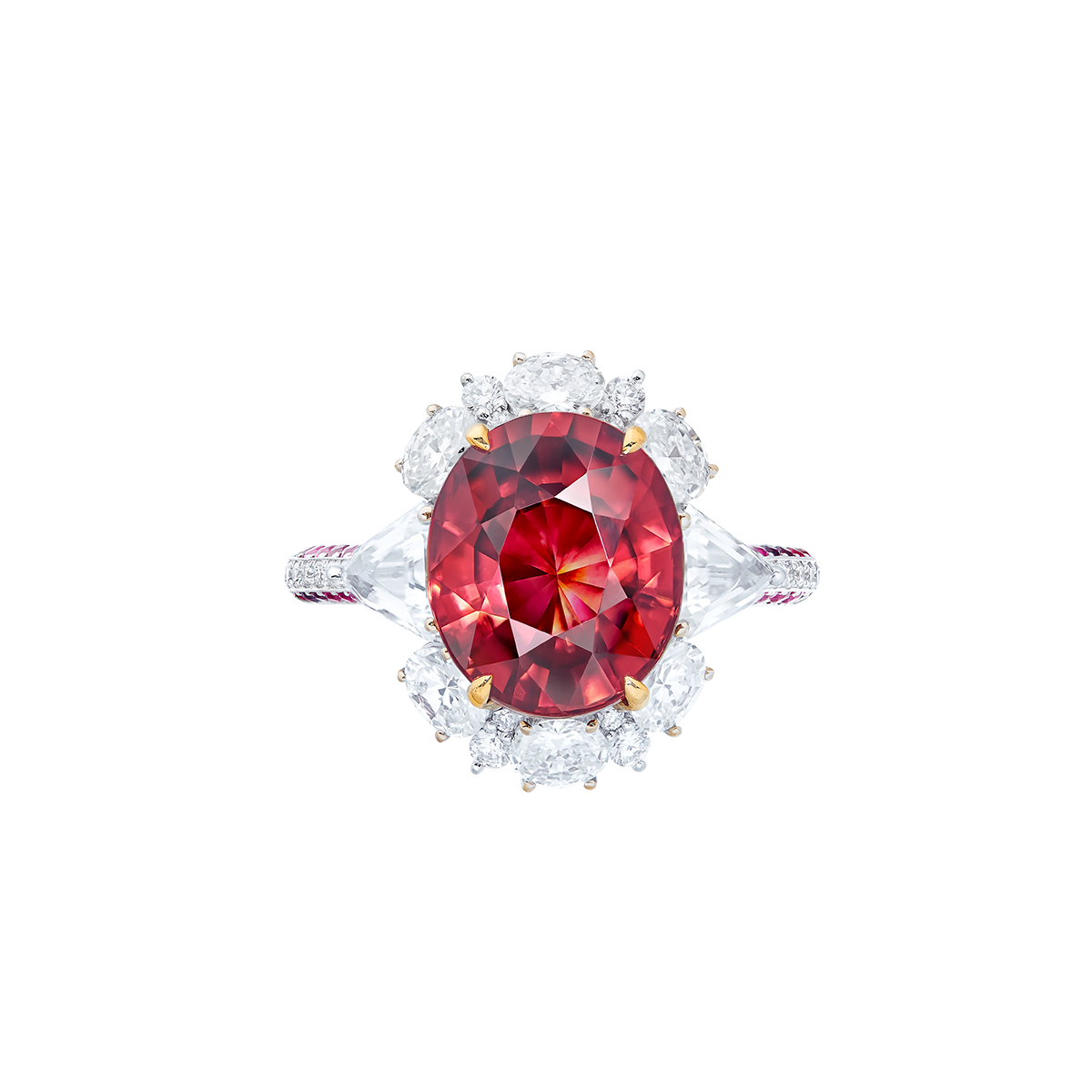 5.48克拉 變色石榴石鑽戒