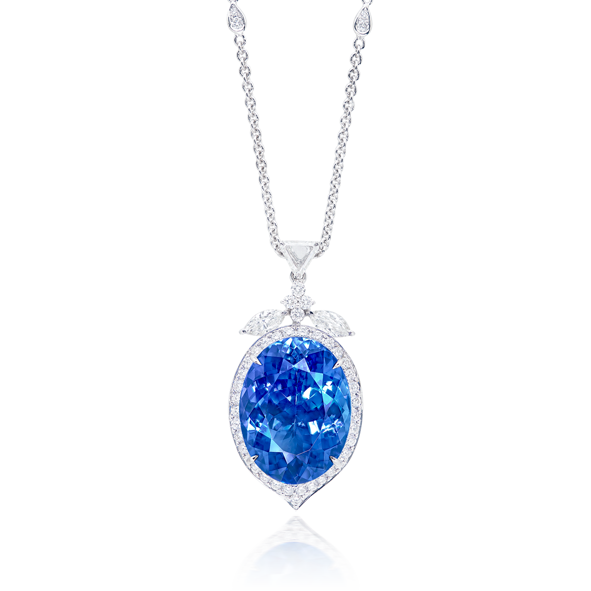 26.27克拉 天然丹泉石鑽石墜鍊