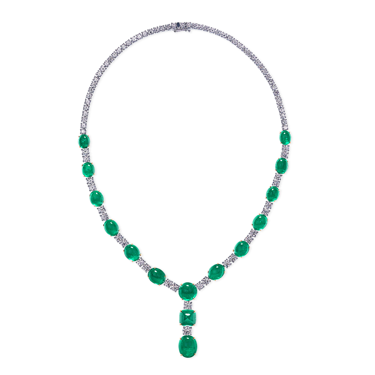 GIA 49.85克拉 哥倫比亞祖母綠鑽石套鍊