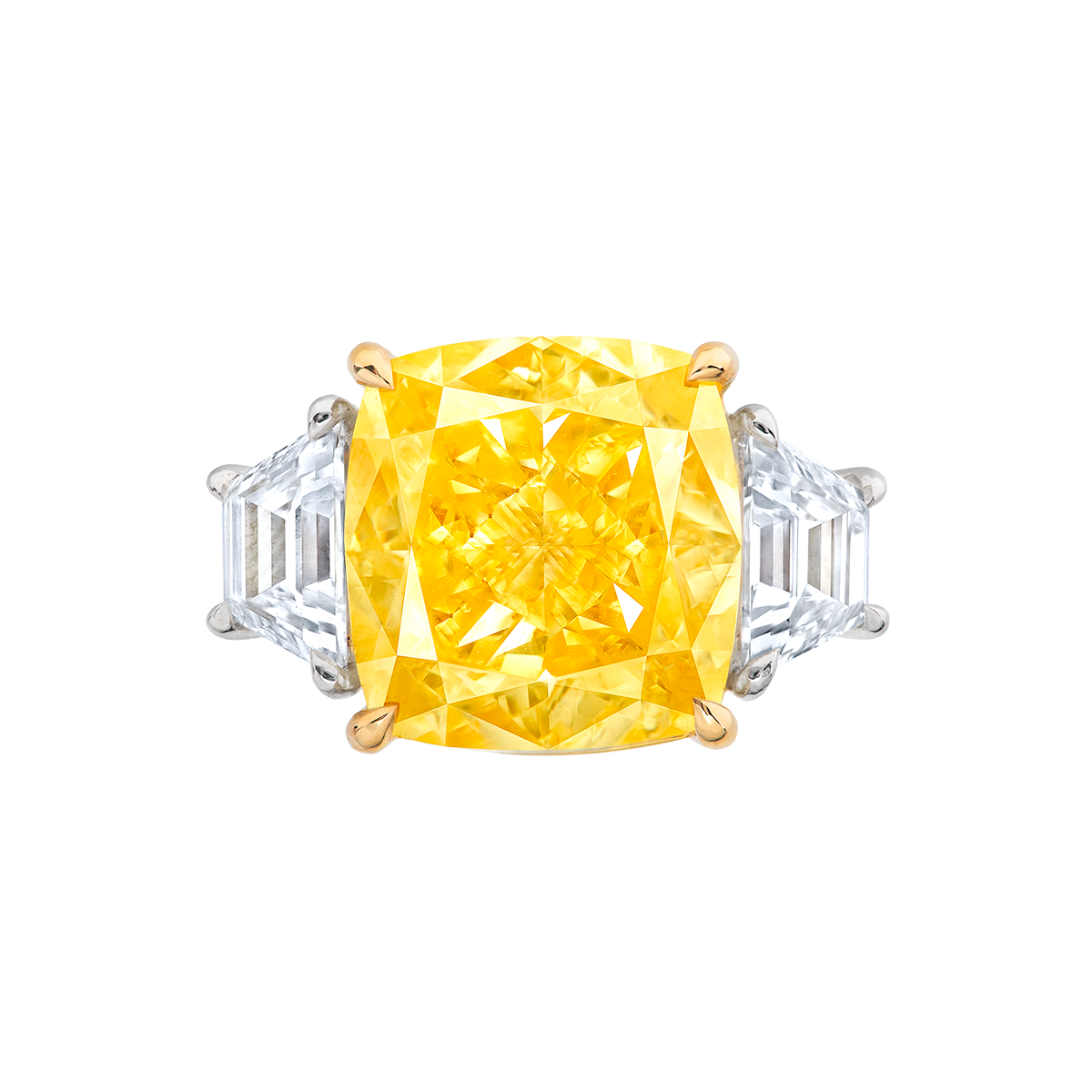 GIA 10.02克拉 濃彩黃鑽鑽戒