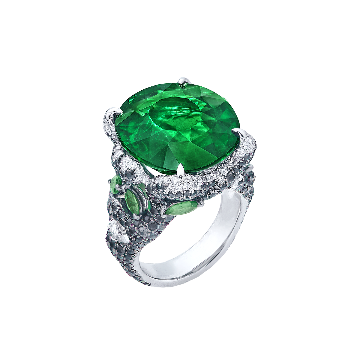 20.43克拉 艷彩沙弗萊鑽戒