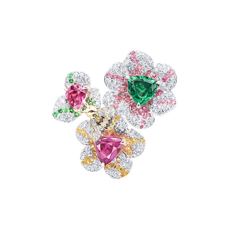 EGL 彩寶花戒 6.07CT 3P