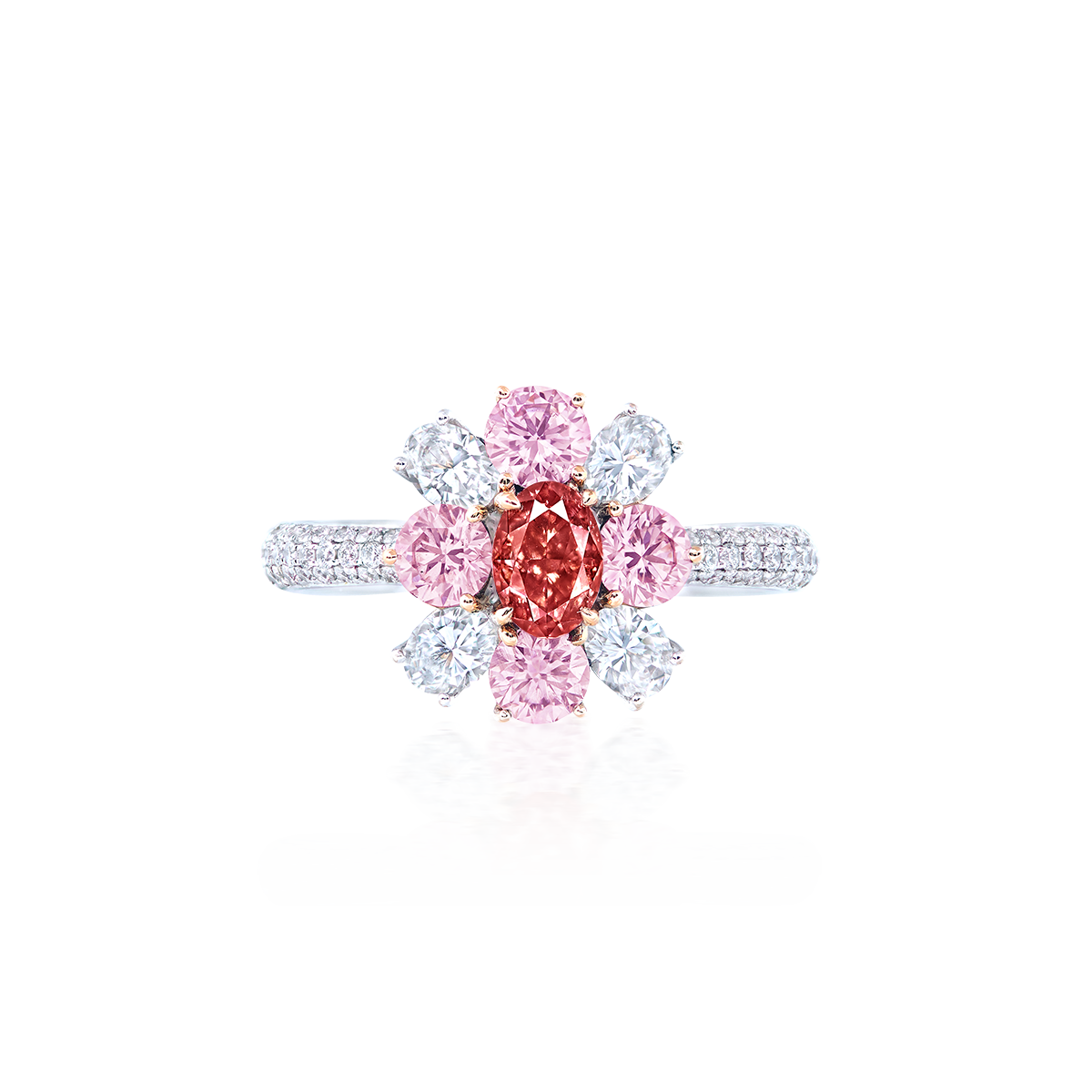 0.50克拉 阿蓋爾粉彩鑽鑽戒