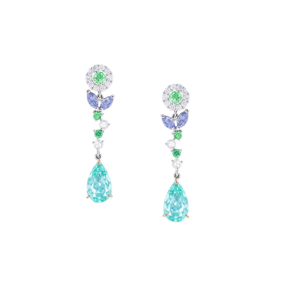 2.31克拉 碧璽耳環