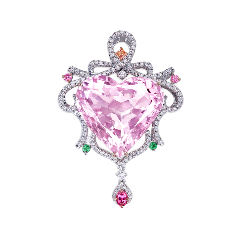 GUB 天然孔賽石彩剛鑽石掛墜 39.27克拉