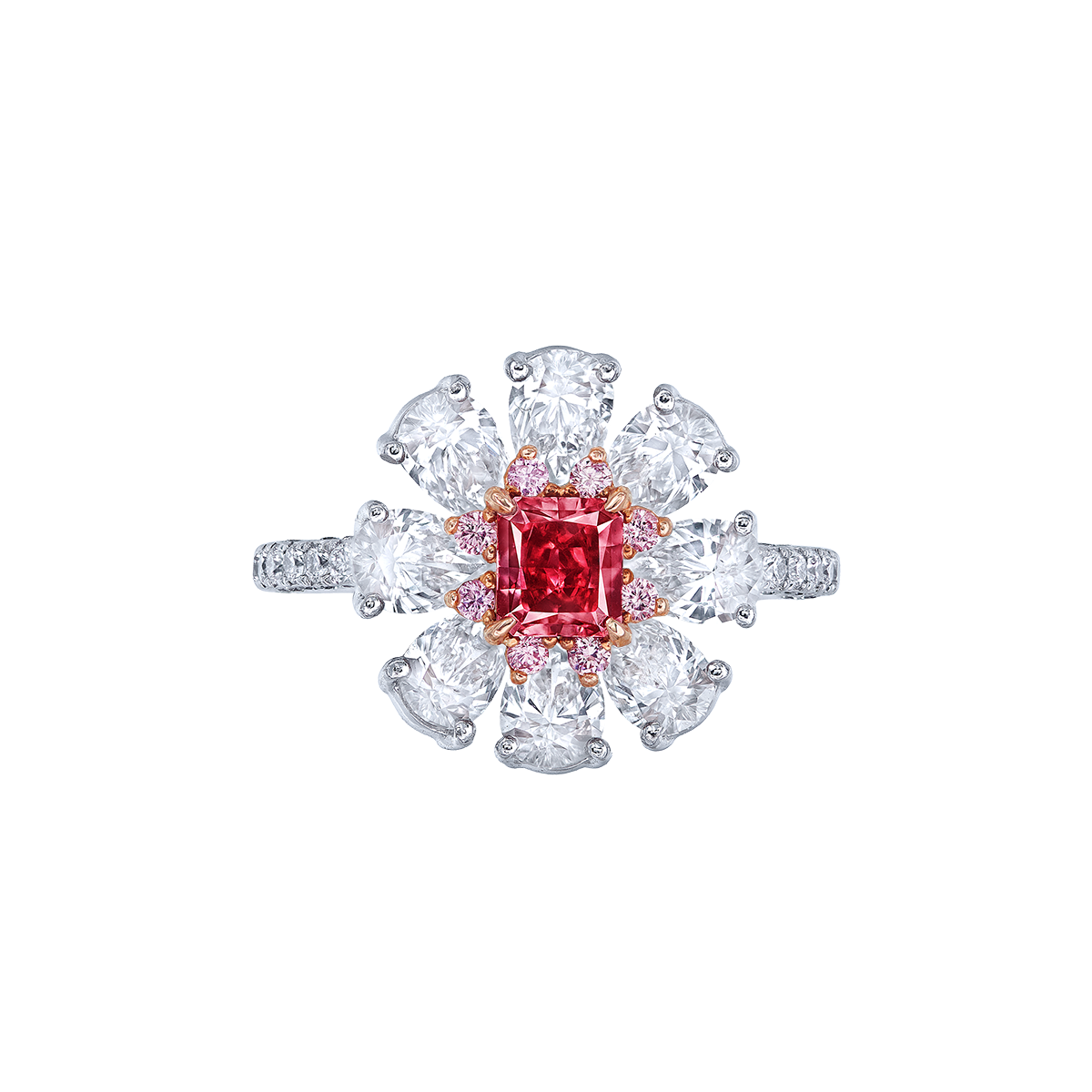 GIA 0.53克拉 紅鑽鑽戒