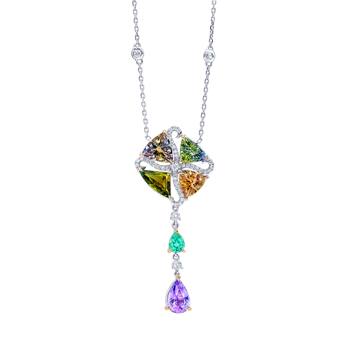 4.25克拉 混色丹泉石套鍊