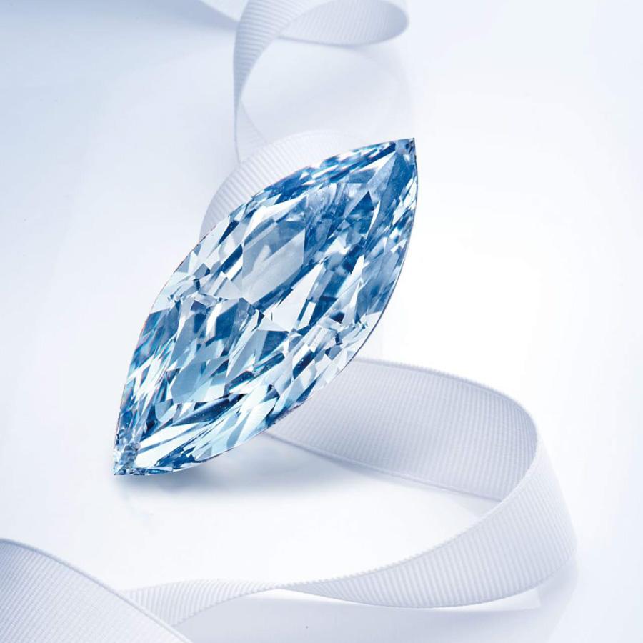 濃彩藍彩鑽裸石 0.96 克拉 Fancy Intense Blue VVS1