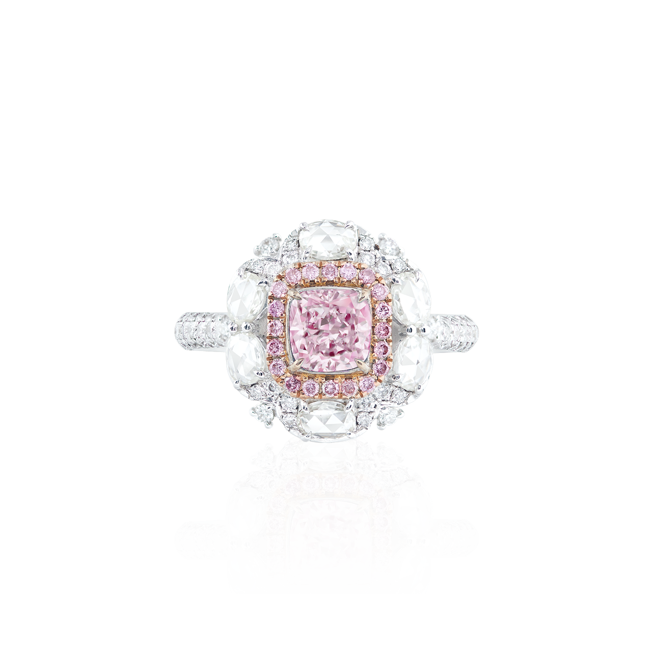 GIA 1.01 克拉 粉鑽鑽戒