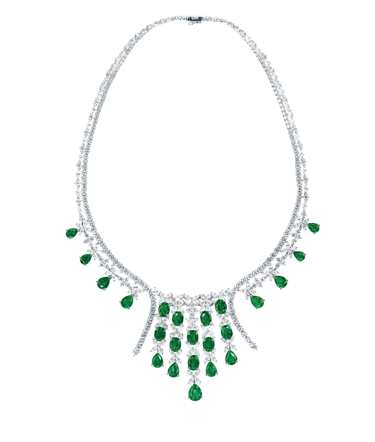 22.65克拉 祖母綠鑽石套鍊