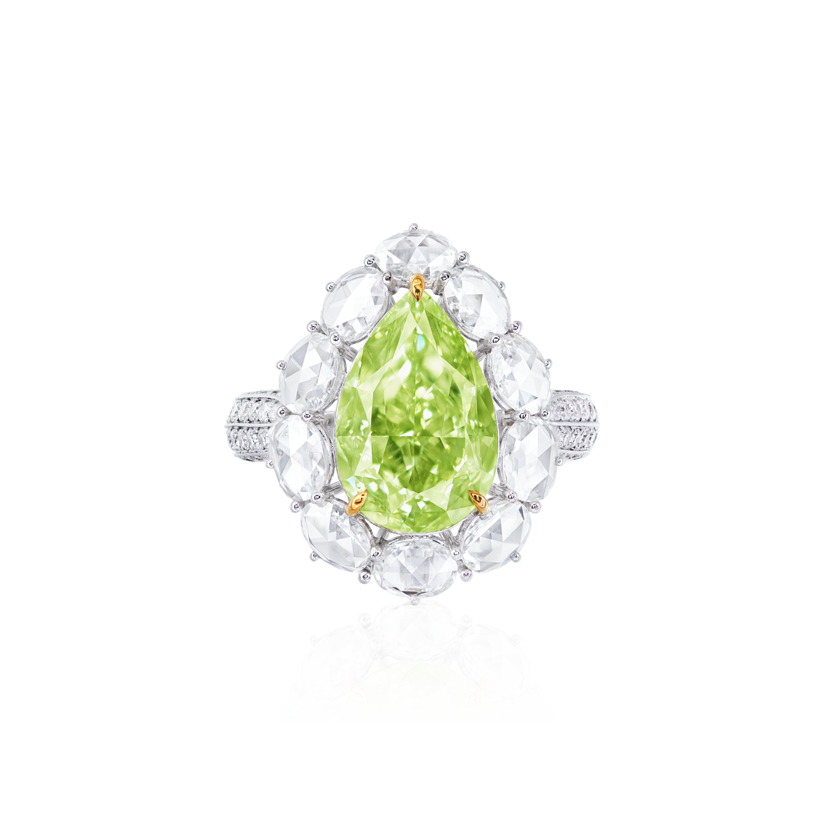 GIA 5.53 克拉黃綠彩鑽鑽石戒