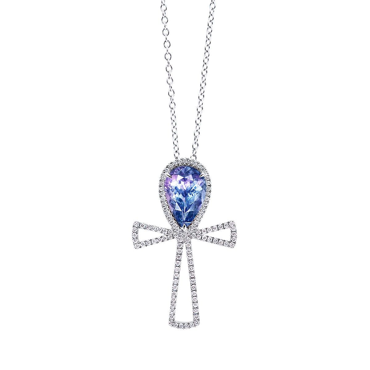 3.37克拉 天然丹泉石鑽石墜鍊