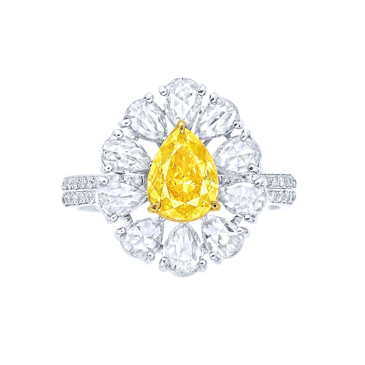 GIA 1.01克拉 艷彩黃鑽鑽戒