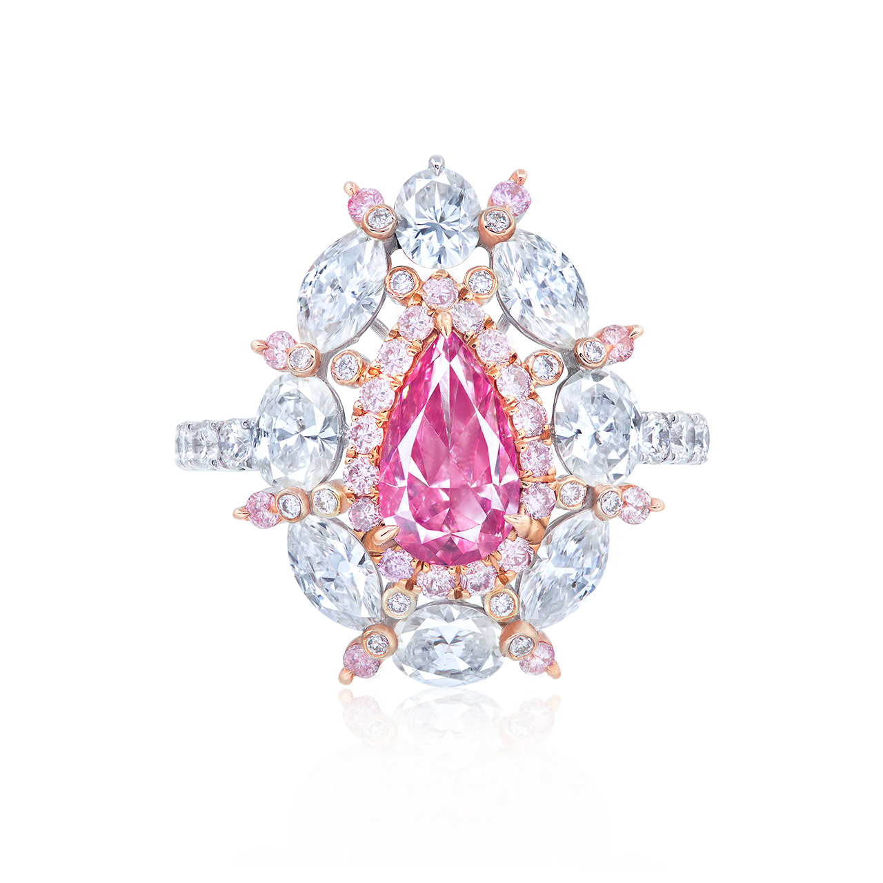GIA 1.03克拉 艷彩紫粉鑽鑽石戒