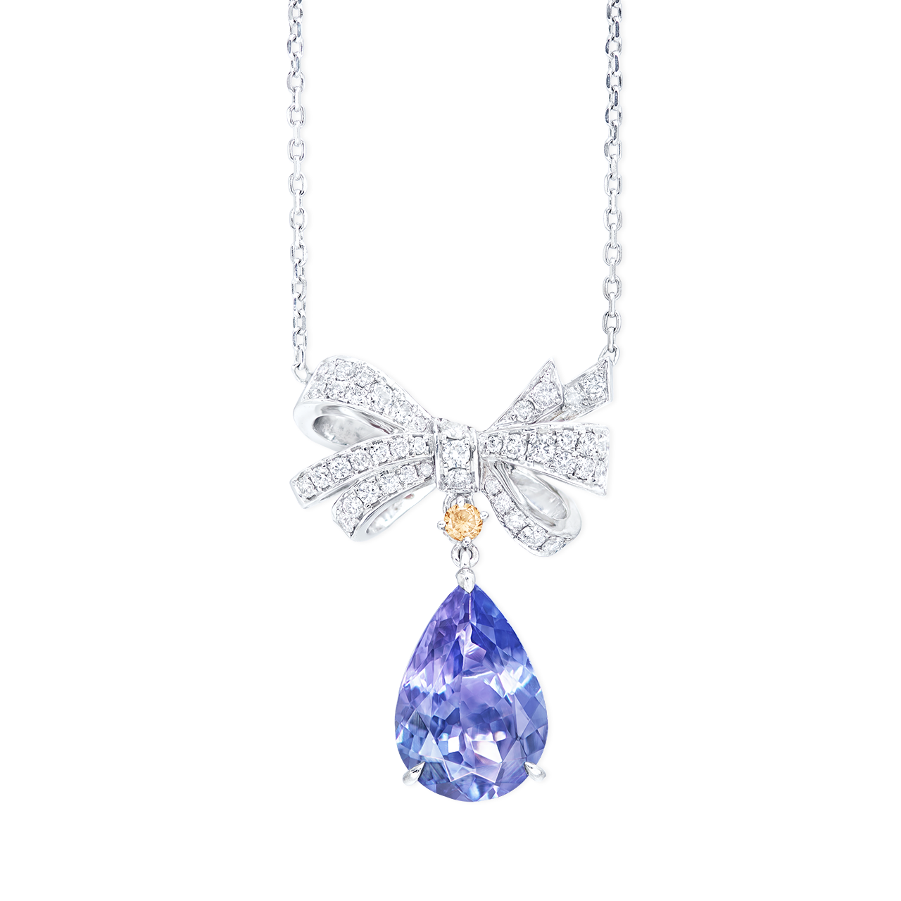 3.37克拉 丹泉石鑽石墜鍊