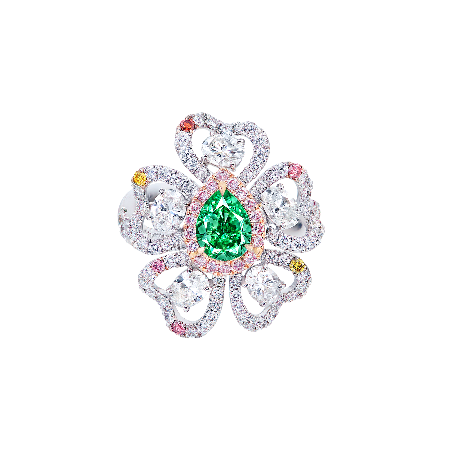 GIA 1.05克拉 艷彩藍綠彩鑽鑽石戒