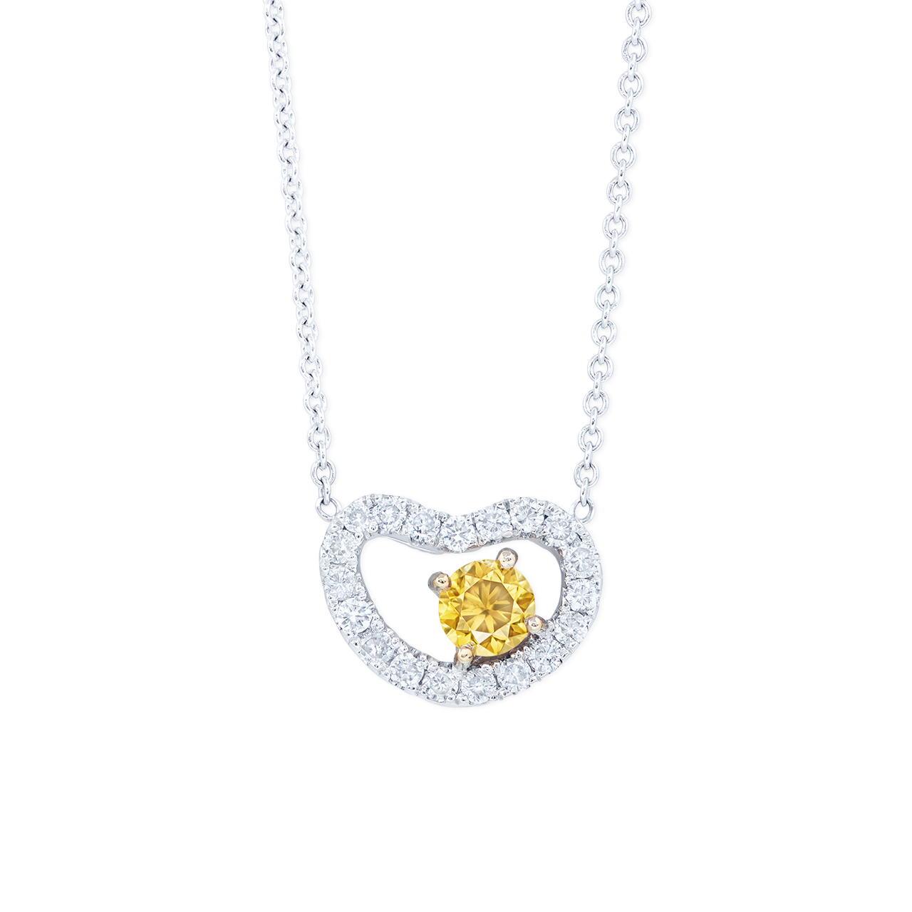 0.23克拉 黃鑽墜鍊